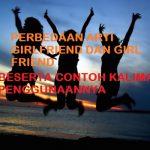 Perbedaan Arti Girlfriend dan Girl Friend Beserta Contoh Kalimat Penggunaannya
